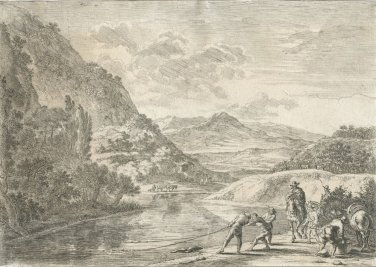 Jan Both �Landscape With Ruins And Two Cows At The Waterside� Etching