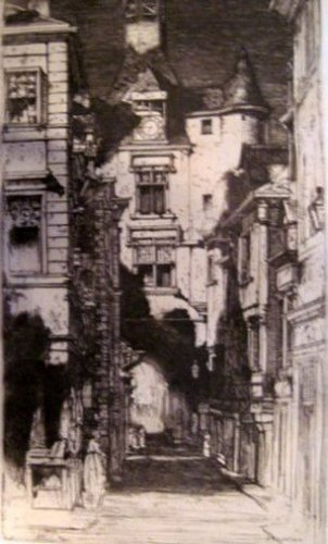 D. Y. Cameron - Amboise Library - Etching - Dry Point