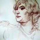 Toulouse-Lautrec -Tete de Juene Femme - LE Lithograph
