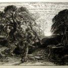 Samuel palmer -Old Fortunate Old man-gravure-Engraving