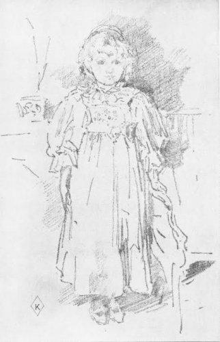 James Mac Neill Whistler - Little Evelyn - Lithograph
