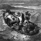 Eugene Delacroix La Barque - etched by Gustave Greux