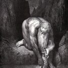 Gustave Dore The Giant Antaeus  Engraving