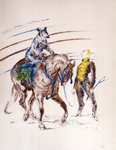Henri Toulouse Lautrec Circus Bear & Trainer Lithograph