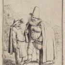 "Adriaen van Ostade "" Three Grosteque Figures"" Etching"
