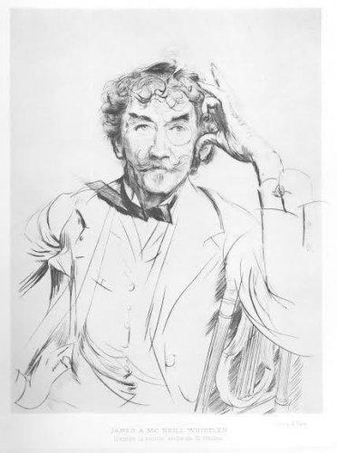 """Paul Helleu """"Portrait of James A. McNeil Whistler"""