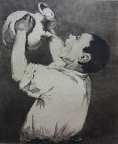 Manet - Le buyeur d'eau - etching - 1884