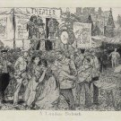 """A London Suburb"" Etching by Robert Blum"