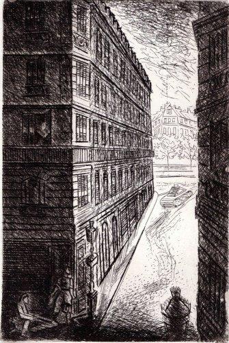 Paul Varlery - Un rein d'evencement - etching