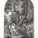 Eugene Delacroix-Lutte de Jacob et de l'Ange- Etching