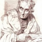 George Hayter - Portrait of Barnard Dunkley - Saint Barnard - Etching