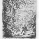 "Paul Baum ""Artist Sketching"" Original Etching"