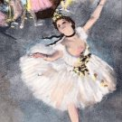 Edgar Degas Dancer on Stage Limited Edition Hand Colored Lithograph