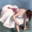 Edgar Degas  Dancer in repose  Limited Edition Hand Colored Lithograph