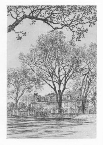 Samuel Chamberlain �Adams Mansion,Quincy� Etching