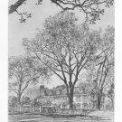 "Samuel Chamberlain ""Adams Mansion Quincy "" Etching"