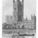 Samuel Chamberlain - House of Parliament - Etching