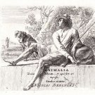 Nicholas Berchem - Animalia - Shepard  Resting on a Wall - Etching