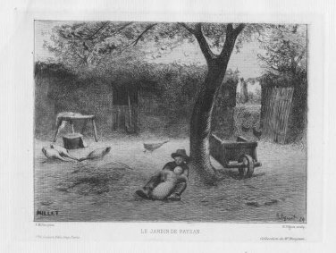 Millet - Le Jardin de Paysan - Etching