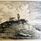 Thomas Gainsborough R.A. -The Shepard and his Flock -  Soft Ground Etching