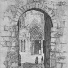 """Samuel Chamberlain """" North Porch of the Virgin of Chartres"""" Etching"""