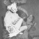 Francisco Goya - Plate 29 - Esto que es leer of Los Caprichos - LE - Engraving