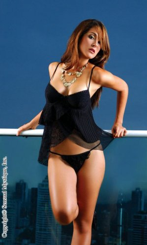 Black Layered Babydoll