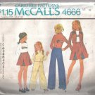 McCall's 4666 Girls Unlined Jacket, Skirt, Pants and T Shirt Pattern Size 10