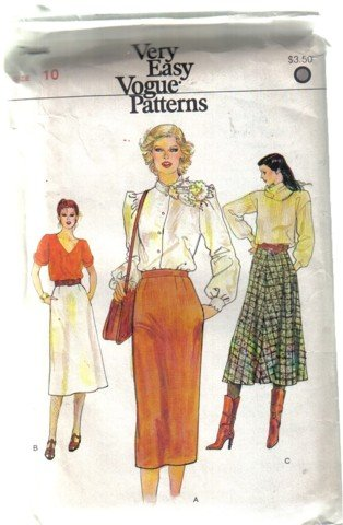 Misses� Vogue 7444 Very Easy Skirt Patterns 3 types of skirts, size 10