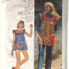 Simplicity 5423 Misses' Smock Top, Pants and Bikini Shorts  Size 6