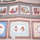 Teddy's Playtime - Teddybears and toy train to cross stitch