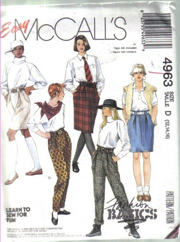McCall�s Misses� Skirts, Pants and Shorts Pattern  Size 12, 14, 16 Uncut
