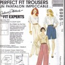 McCall's Misses' Perfect Fit Trousers Pattern  Pants Shorts Fitting Shell Size 14 Uncut no 6985
