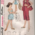 Simplicity 4317 Vintage Girls' Shorts, Pedal Pushers, Bra and Jacket   Pattern Size 10