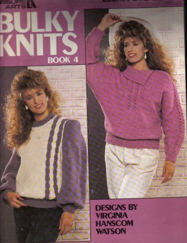 2 Bulky Knit Sweaters  Knitting Pattern Small,  Medium & Large