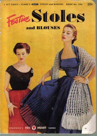 Festive Stoles and Blouses  Vintage Crochet Patterns