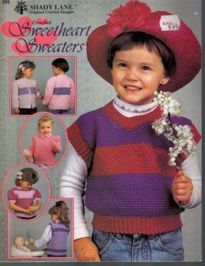 Toddlers  Sweaters Crochet Patterns by Shady Lane