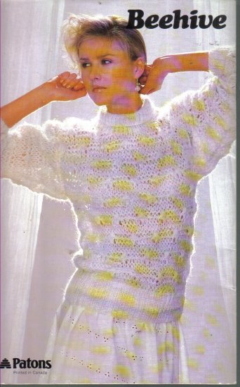 Beehive 464 Patons Diana Hurry Knits on the Go 6 Sheetland-Style Chunky Tops Knitting Patterns