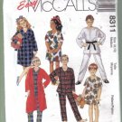 McCall's Boys' Girls' Robe, Nightshirt, Pajamas  Pattern Size 8, 10  uncut