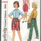 Simplicity 2862 Vintage Girls' Blouse, Pants and Shorts  Pattern Size 8 Uncut
