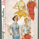 Simplicity 1782 4 Blouse / Overblouse Vintage Pattern Size 13 Bust 33