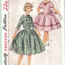 Simplicity 1397 Vintage Girls' Dress with Detachable Collar Pattern Size 8