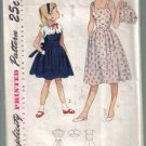 Simplicity Vintage 1950's Girls' Sundress with button on Bolero Pattern Size 10 no 3499