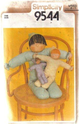 Simplicity Stuffed Doll Pattern no. 9544 3 sizes