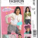 McCall's 5197 Sassy Girl Pattern Hat, Bolero, Shimmy, Bag, Cell phone, music case - Uncut