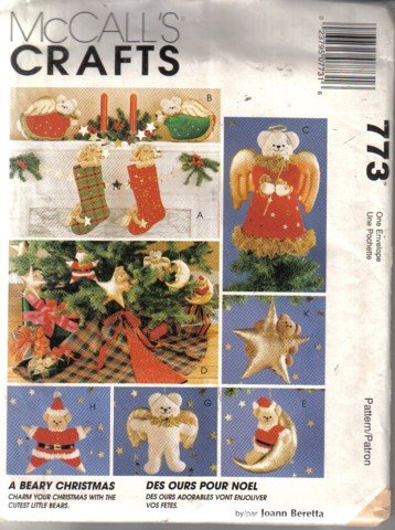 McCall's Beary Christmas Decoration Pattern 773