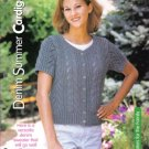 Denim Summer Cardigan Knitting Pattern  Small, Medium, Large