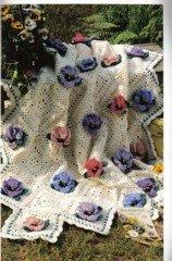 Floral Afghans - 5 Crochet Patterns