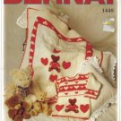 Tender Teddy Bernat knitting pattern - Pullover and Carriage Cover