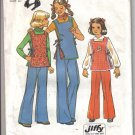 Simplicity Girls Jiffy Pants and Reversible Tunic Pattern size 10  - Uncut no. 7691